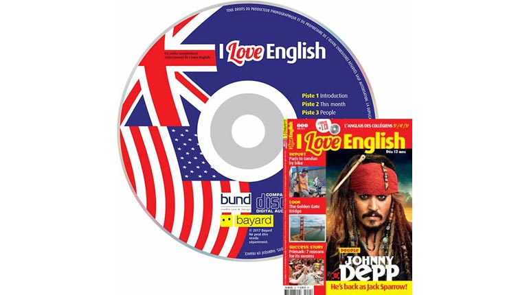couverture I Love English n°251, mai 2017, avec CD audio