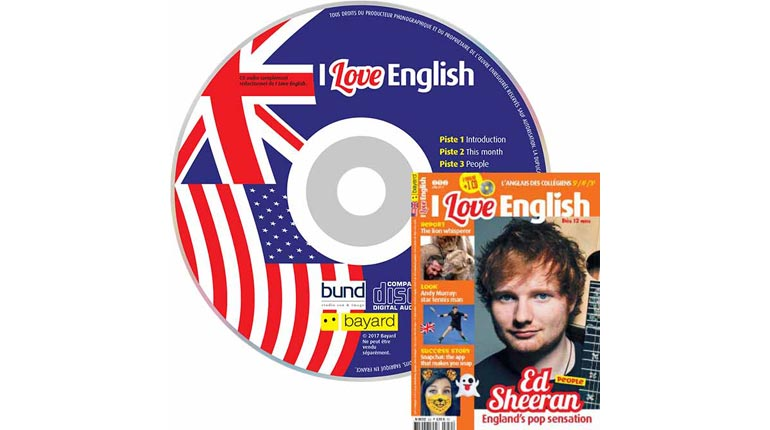 couverture I Love English n°252, juin 2017, avec CD audio