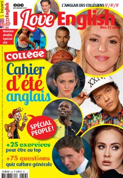 couverture I Love English n253 - juillet-août 2017