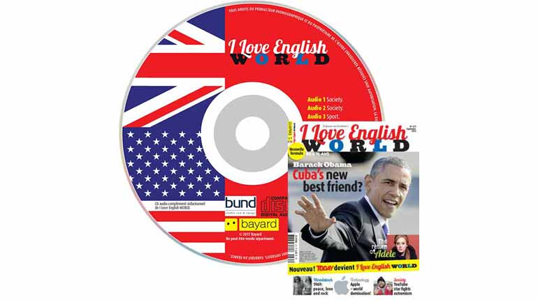 couverture I Love English World n°275, septembre 2015, avec CD audio
