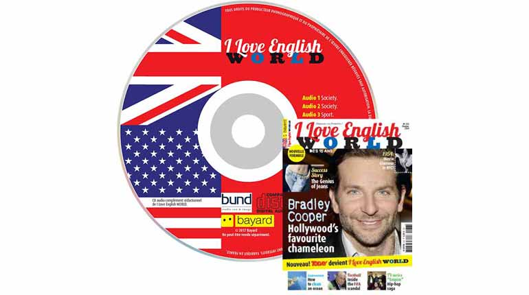 couverture I Love English World n°276, octobre 2015, avec CD audio