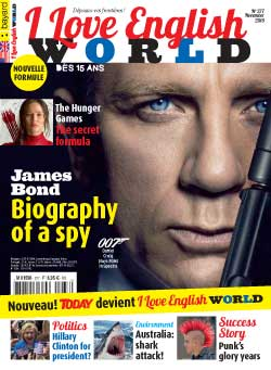 couverture de I Love English World n°277 - novembre 2015