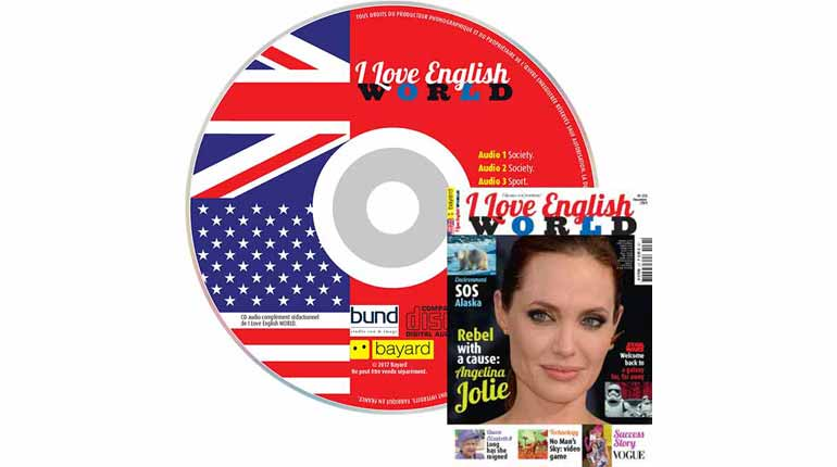 couverture I Love English World n°278, décembre 2015, avec CD audio