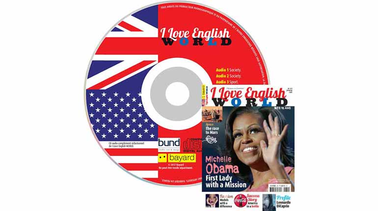 couverture I Love English World n°279, janvier 2016, avec CD audio
