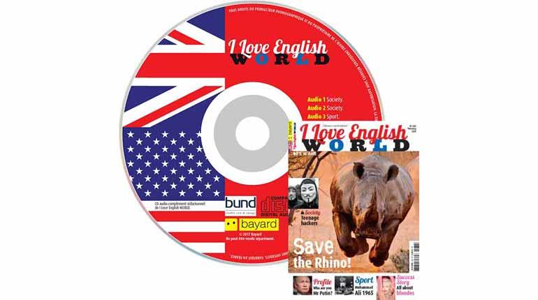 couverture I Love English World n°280, février 2016, avec CD audio