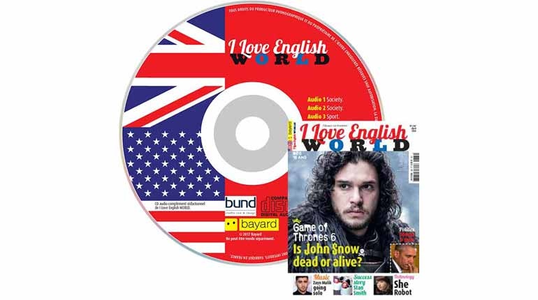 couverture I Love English World n°282, avril 2016, avec CD audio