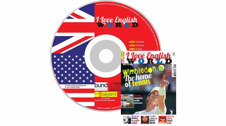 couverture I Love English World n°283, mai 2016, avec CD audio