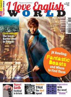 couverture de I Love English World n°288 - novembre 2016