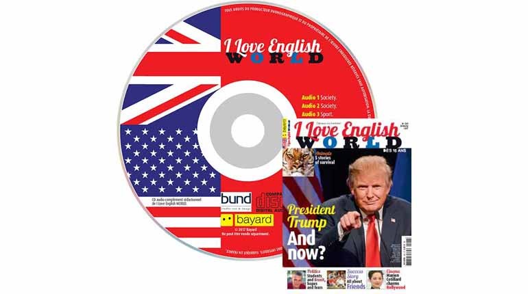 couverture I Love English World n°290, janvier 2017, avec CD audio