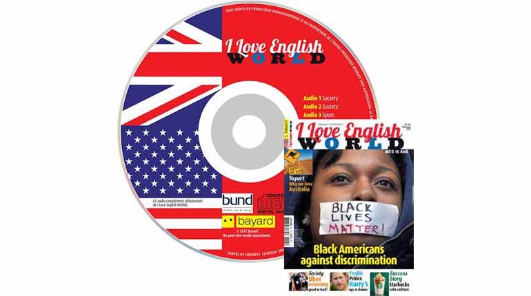 couverture I Love English World n°291, février 2017, avec CD audio