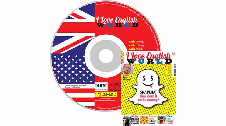 couverture I Love English World n°292, mars 2017, avec CD audio