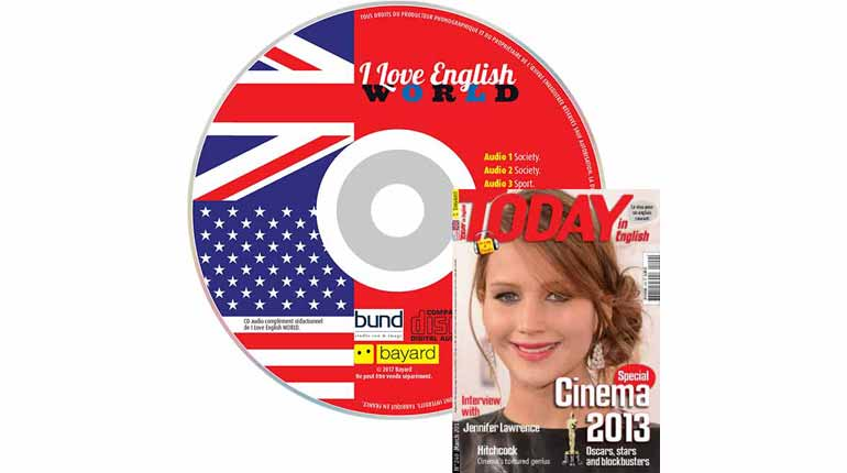couverture Today in English n°249, mars 2013, avec CD audio