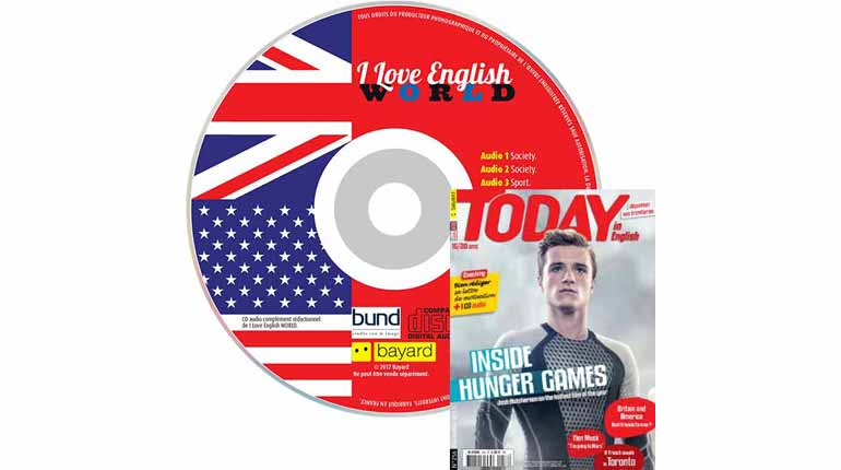 couverture Today in English n°256, décembre 2014, avec CD audio