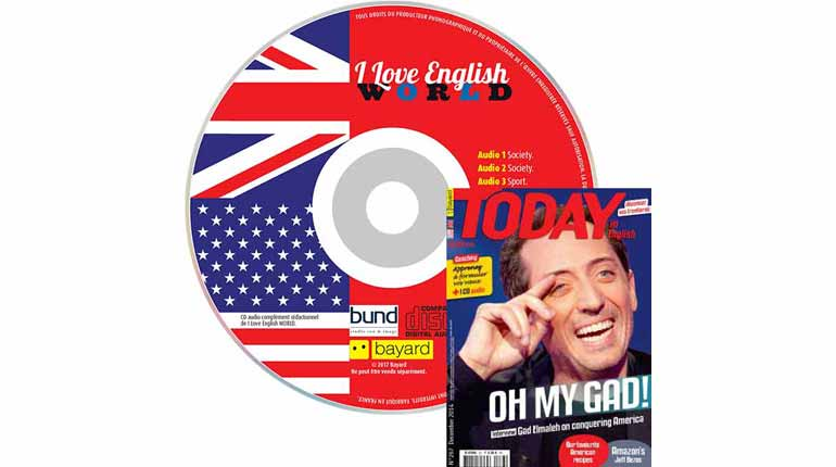 couverture Today in English n°267, décembre 2015, avec CD audio