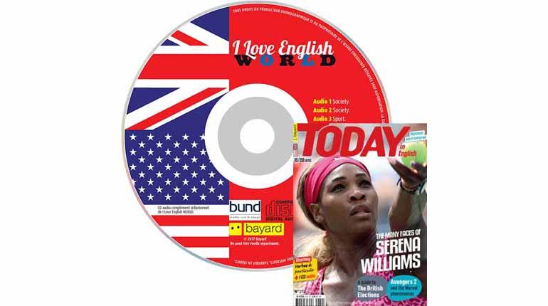 couverture I Love English World n°272, mai 2015, avec CD audio