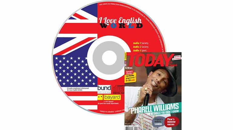 couverture I Love English World n°273, juin 2015, avec CD audio