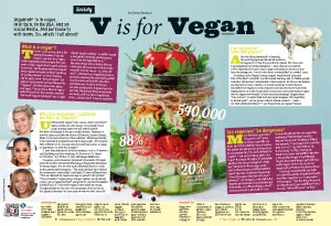 Double page - Report Vegan