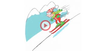 Vidéo Tongue Twister Sam skies on slippery slopes