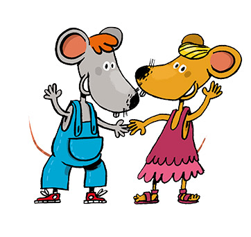 Les souris Tim and Lucy