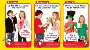 Calendrier 2017 en anglais du magazine I Love English for Kids