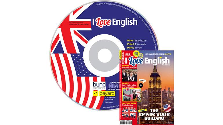 couverture I Love English n°254, septembre 2017, avec CD audio
