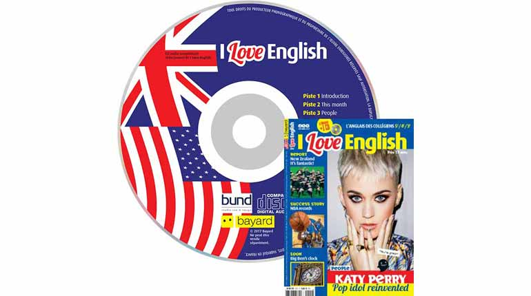 couverture I Love English n°255, octobre 2017, avec CD audio
