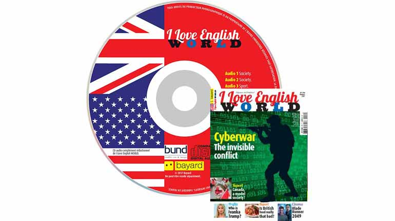 couverture I Love English World n°298, octobre 2017, avec CD audio