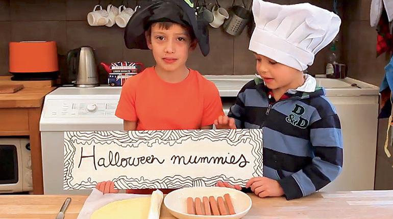 Recette en anglais : Halloween mummies