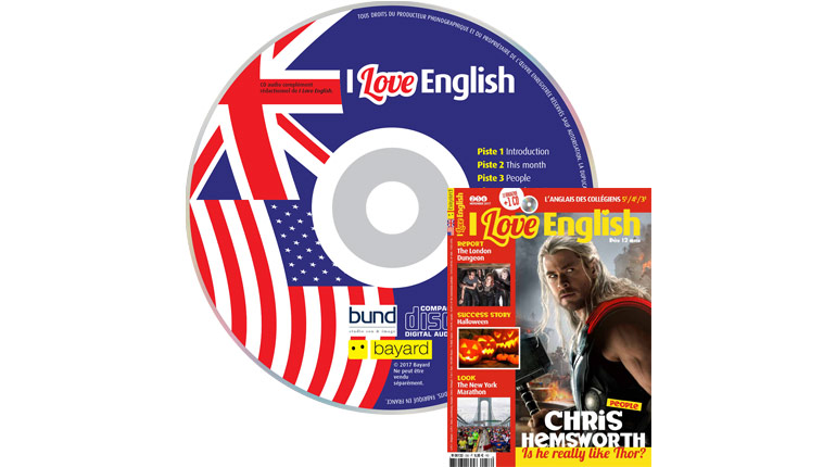 couverture I Love English n°256, novembre 2017, avec CD audio