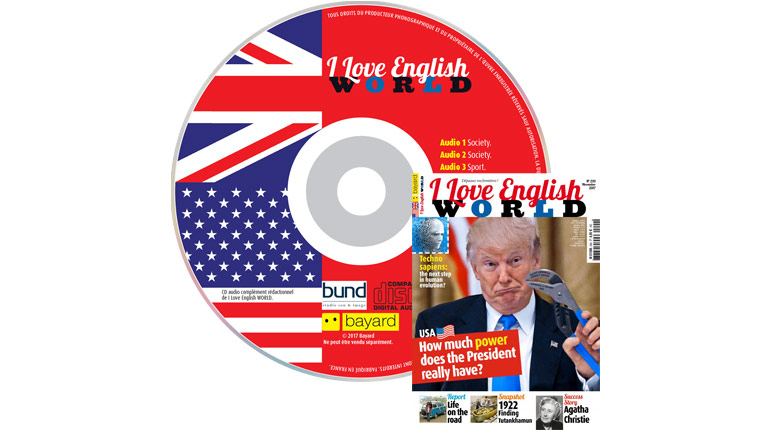 couverture I Love English World n°299, novembre 2017, avec CD audio