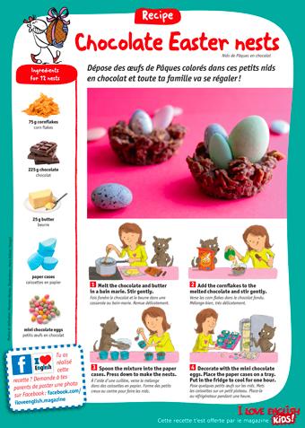 Téléchargez la recette des Chocolate Easter nest