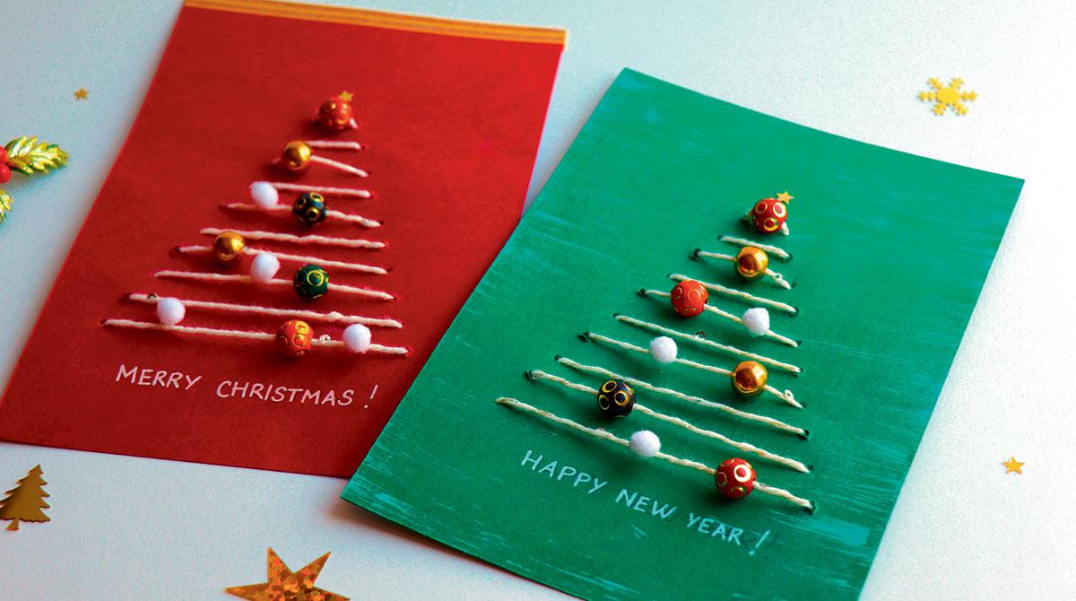 Bricolage en anglais : christmas tree cards   I Love English