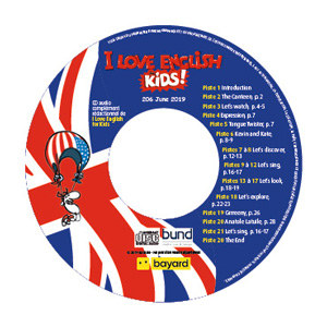 I Love English for Kids, CD audio