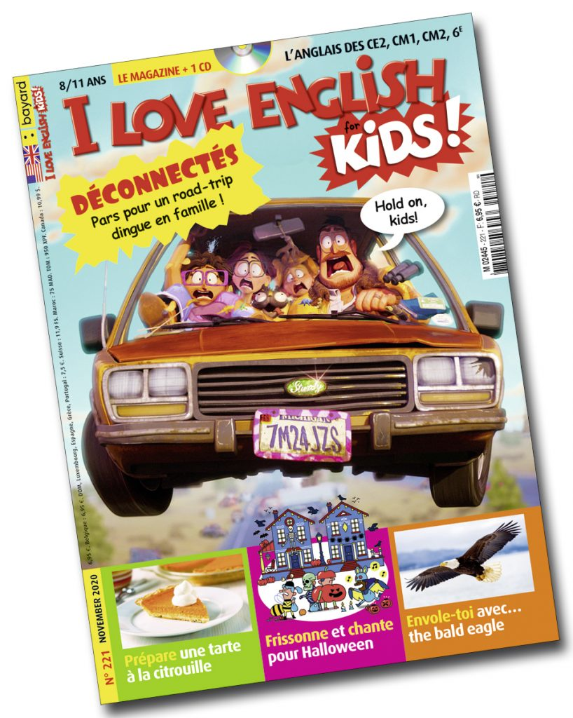 Couverture du magazine I Love English for Kids n°221, novembre 2020