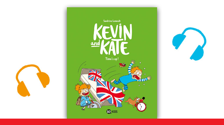 "Couverture de la BD Kevin and Kate, tome 2, ""Time's up!"""