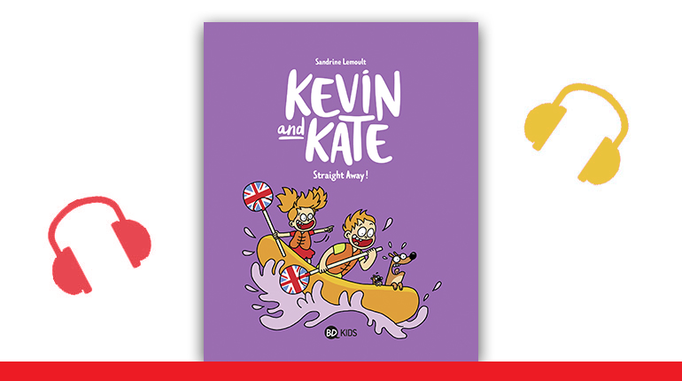 """Couverture de la BD Kevin and Kate, tome 5, """"Straight Away!"""""""