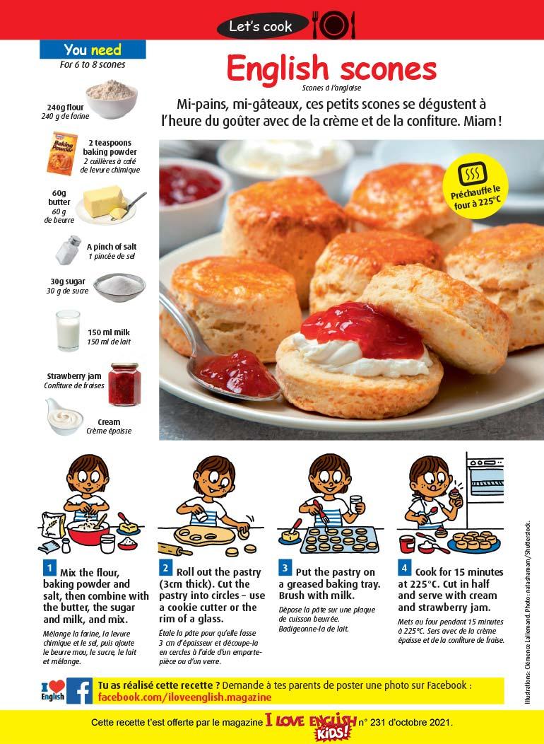 Recette en anglais : English scones. Photo: natashamam/Shutterstock.